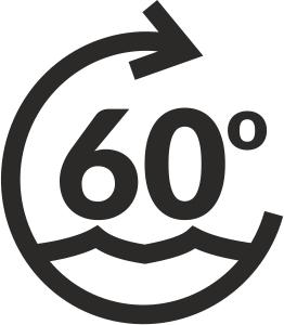 ikona pranie w 60 stopniach